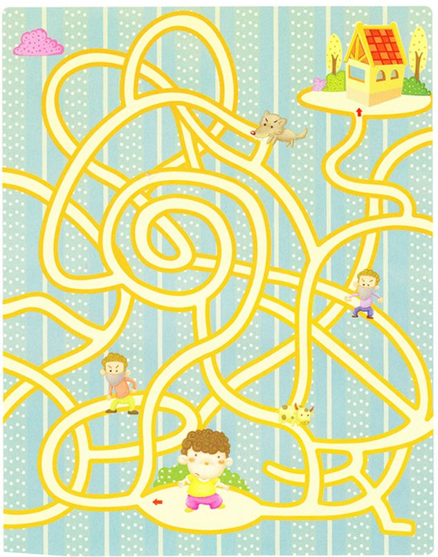 Maze of peace. Free clipart road download