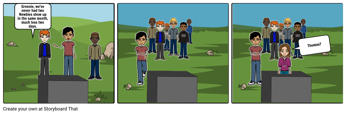 Maze runner game png. The storyboard by araymond