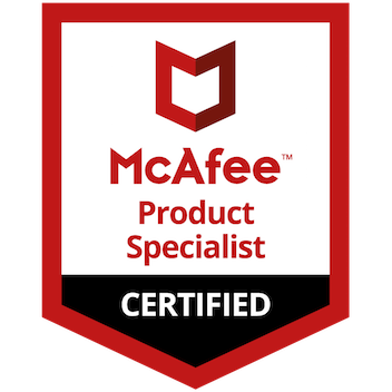 Mcafee badge png. Certified product specialist security