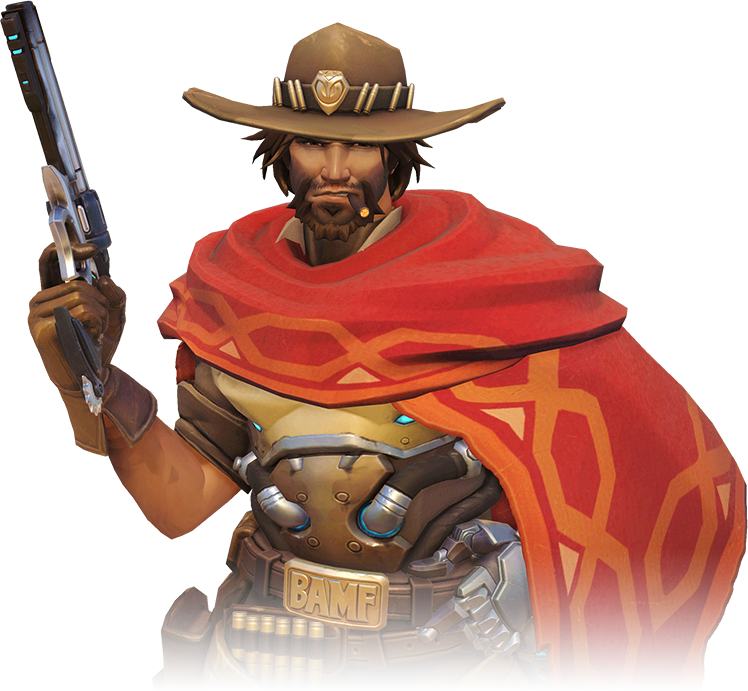 Mccree face png. Image portrait overwatch wiki