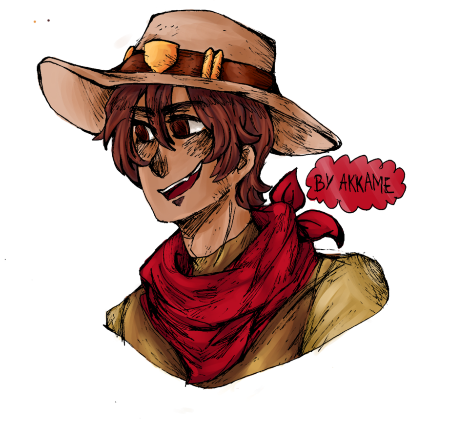 Mccree head png. Overwatch young by akkame