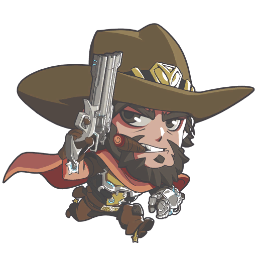 Mccree head png. Fairy tail headcannons more