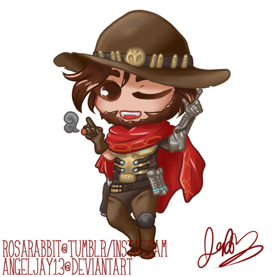 Mccree png ahegao. Commission chibi by angeljay