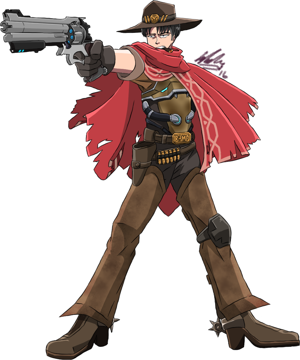 Mccree png ahegao. Overwatchxsnk aot levi as