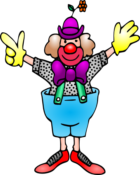 Clown clipart colouring page. Free a picture of