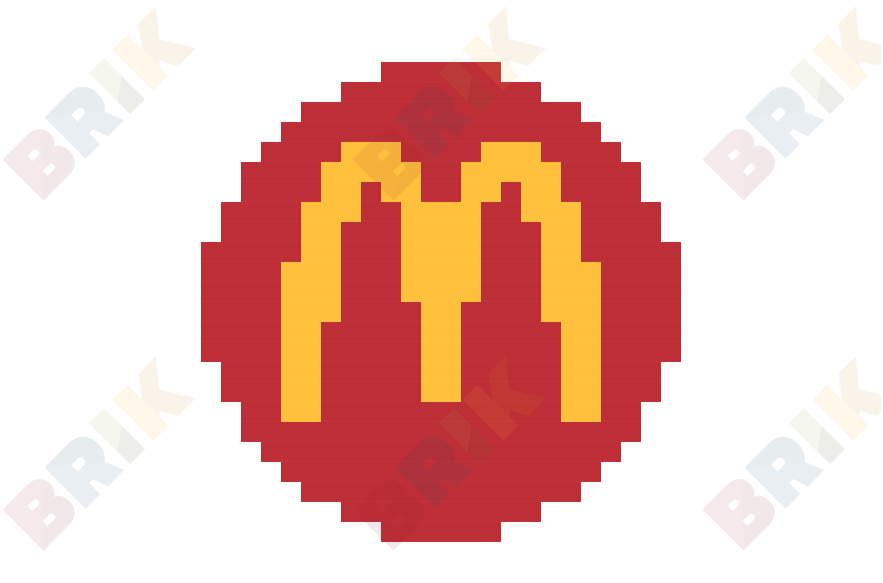 Mcdonalds Pixel Transparent Png Clipart Free Download Ywd