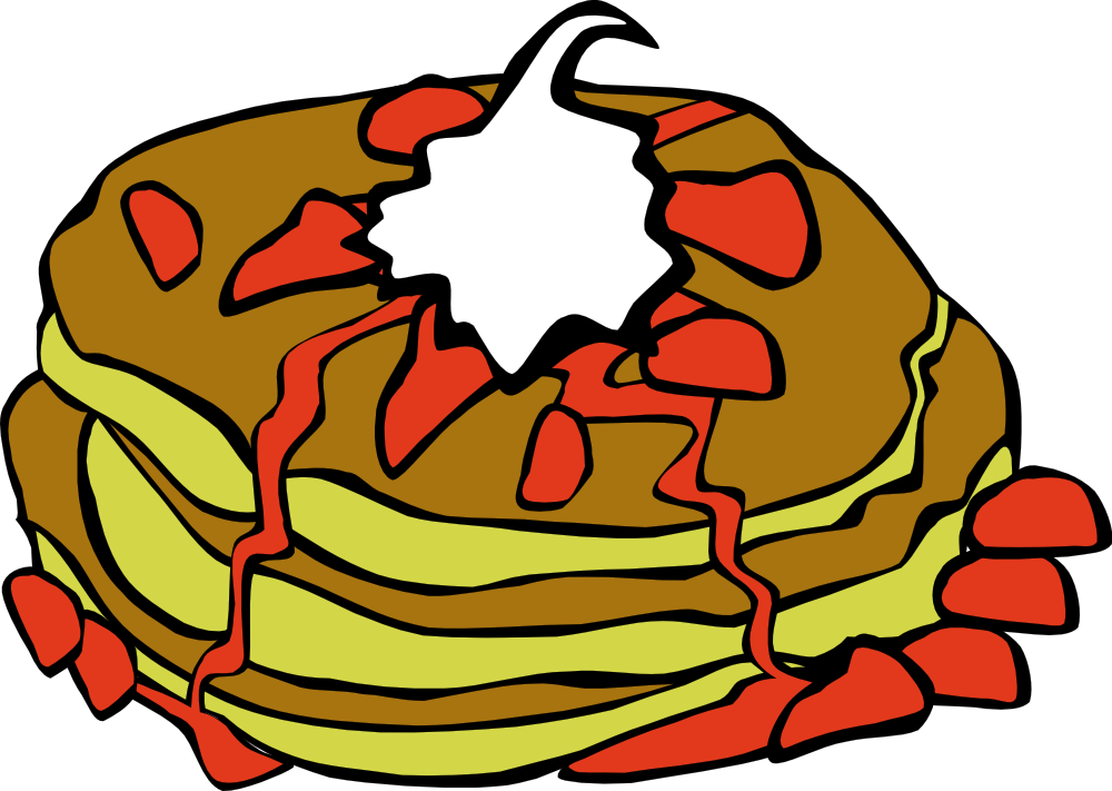 Pancakes vector comic. Free fast food pictures