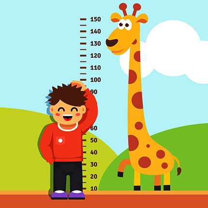 Measuring clipart height difference. Explaining basic concepts of