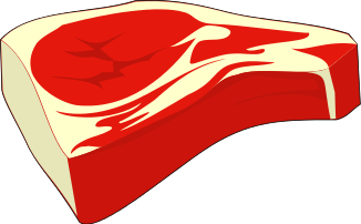 Meat clipart whole. Red