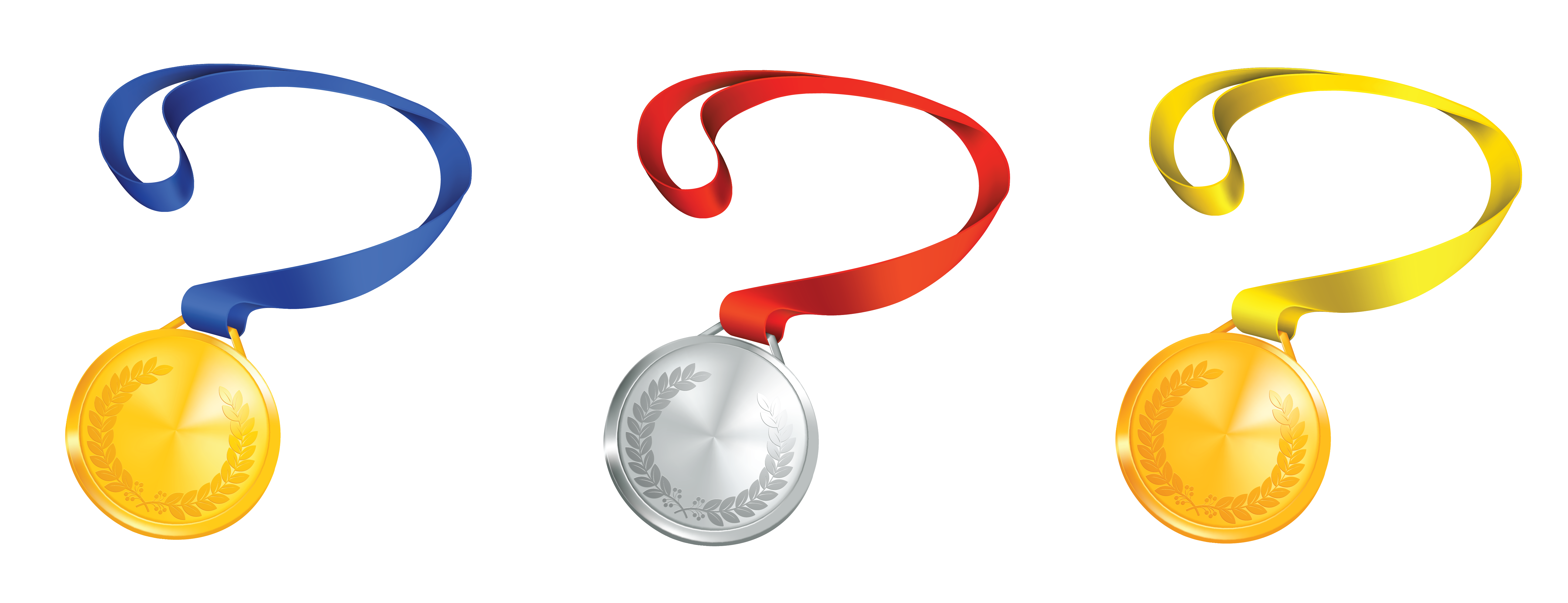 Medal clipart academic medal. Medals set png gallery