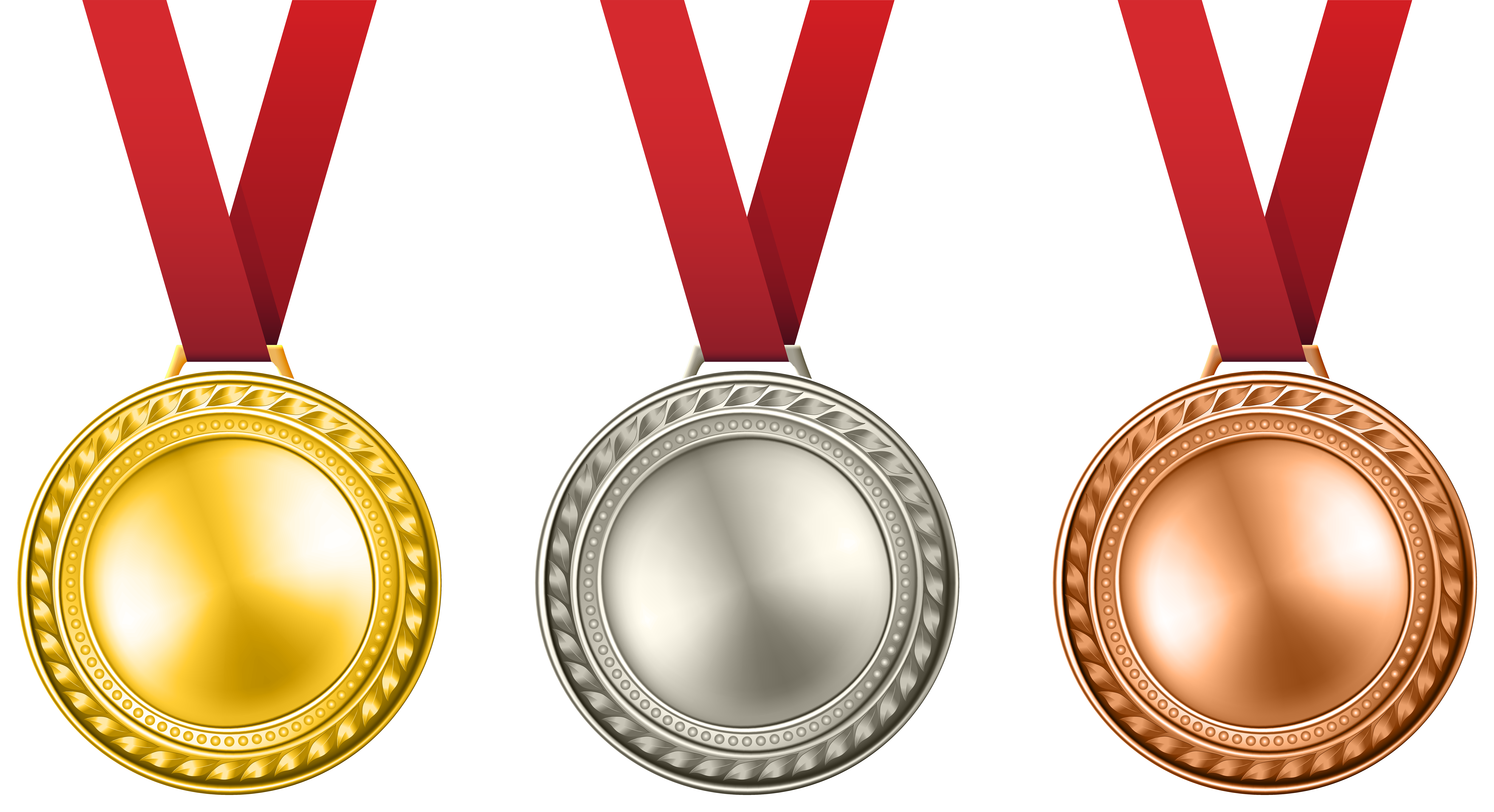 Medal clipart academic medal. Medals set transparent png