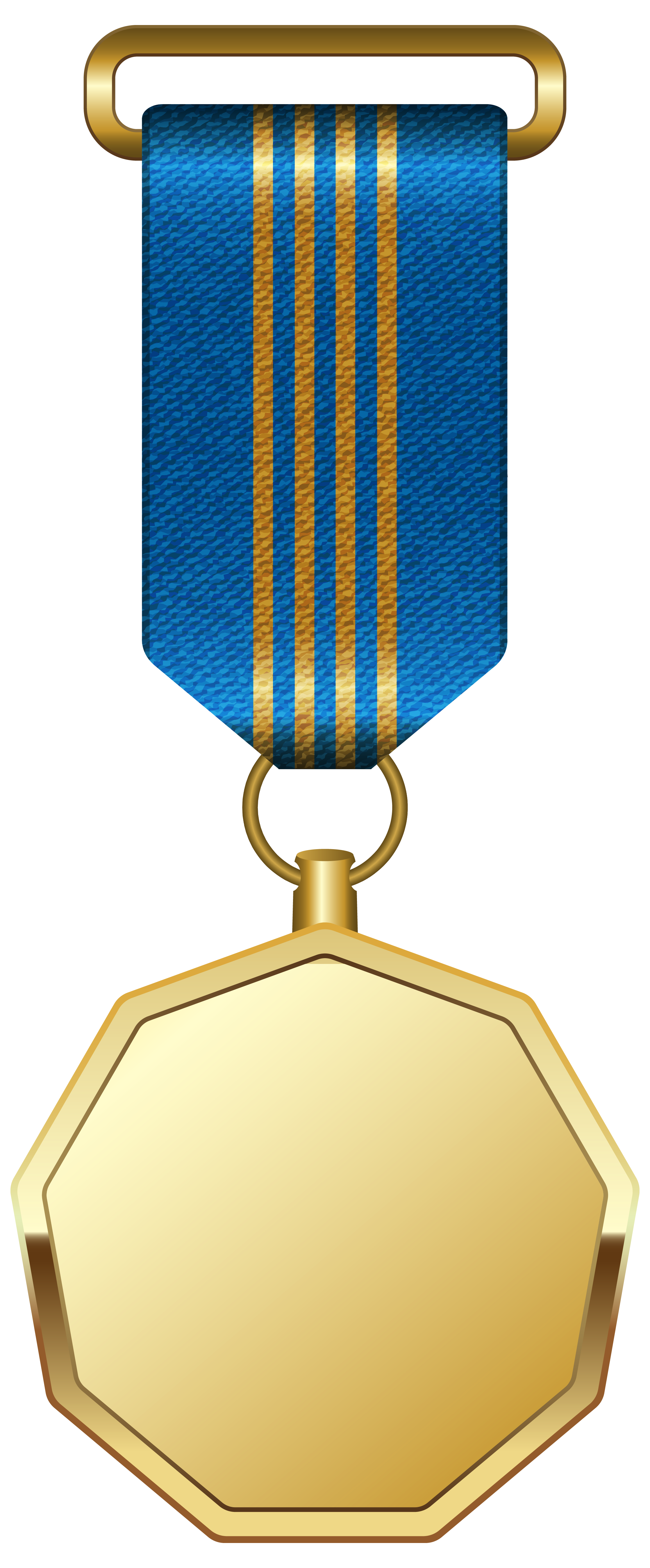 Blue ribbon png. Gold medal with clipart