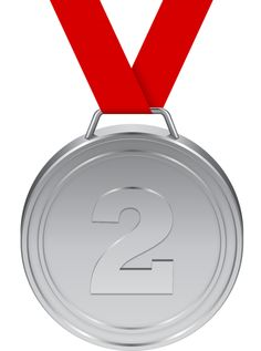 Medal clipart school medal. Gold with red ribbon