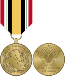 Medal drawing army. Iraq campaign wikipedia