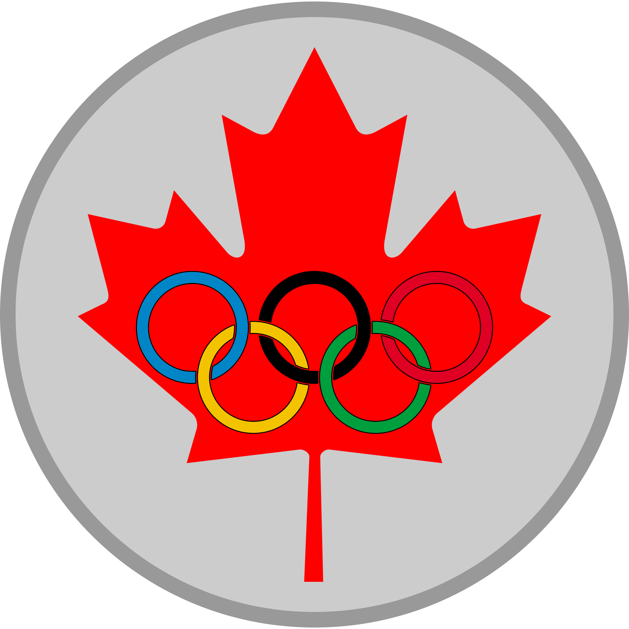 Medal drawing blank. File maple leaf olympic