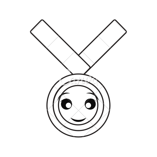 Medals drawing pencil. Medal of honor at
