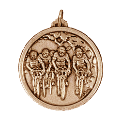 Medal drawing gold metal. Bicycle race medals mm