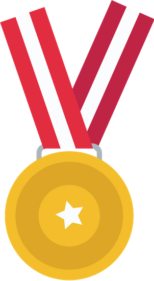 Medal drawing hand holding. Illustration icons by canva