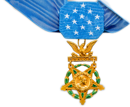 Medal drawing honor. Home valor the charles