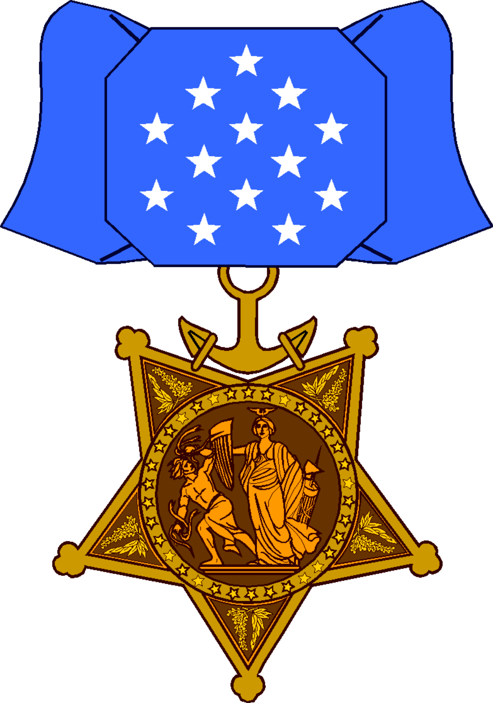 Medal drawing honor. Hd of