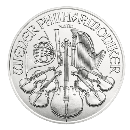 Medal drawing platinum. Vienna philharmonic ounce oz