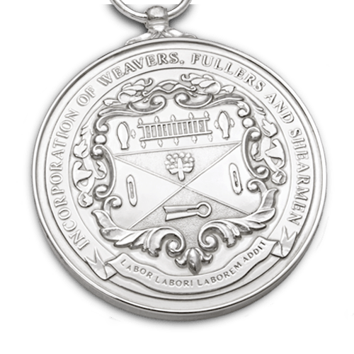 Medal drawing platinum. Weavers fullers and shearmen
