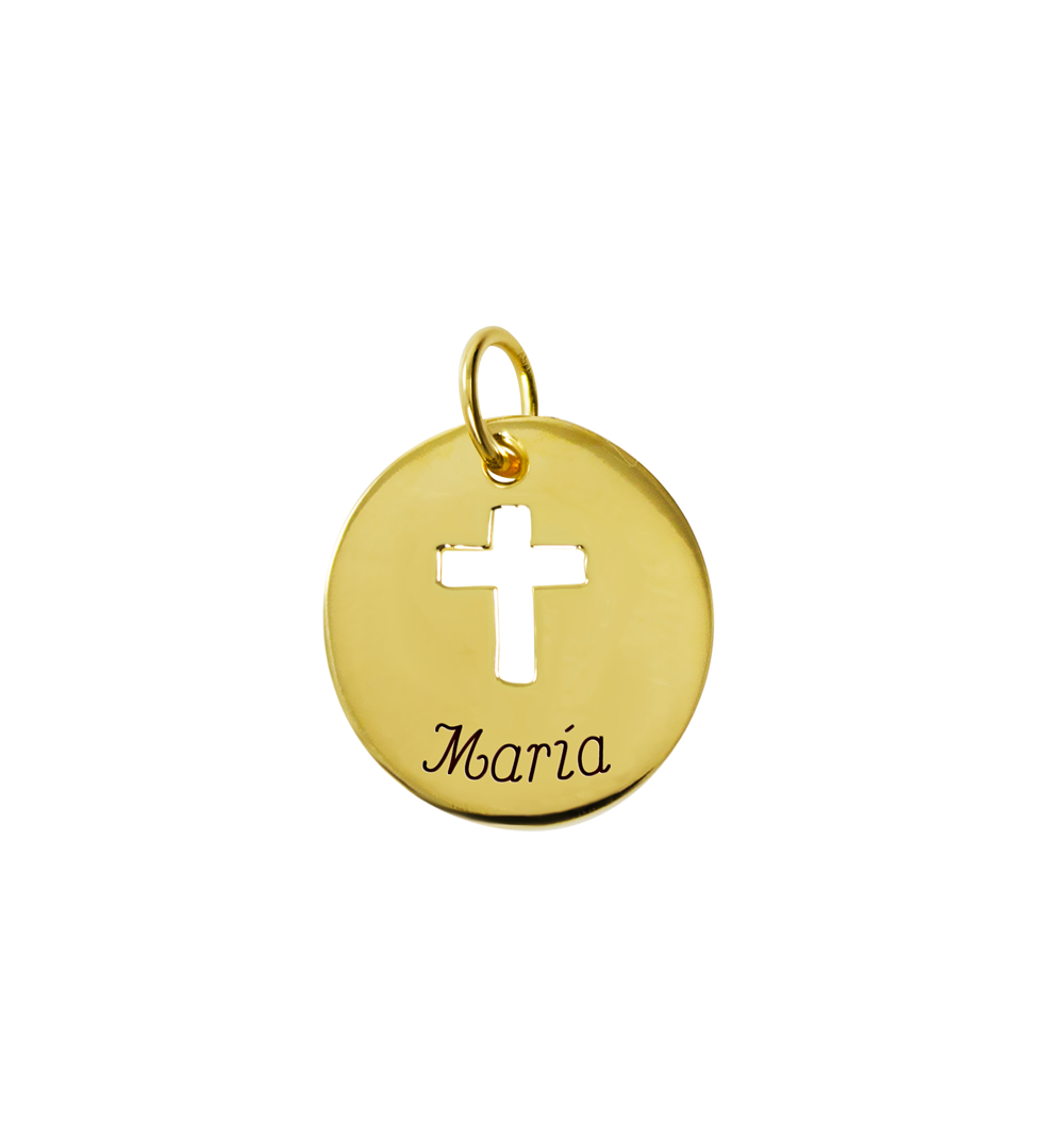 Medal drawing gold metal. Pendant with draped sketch