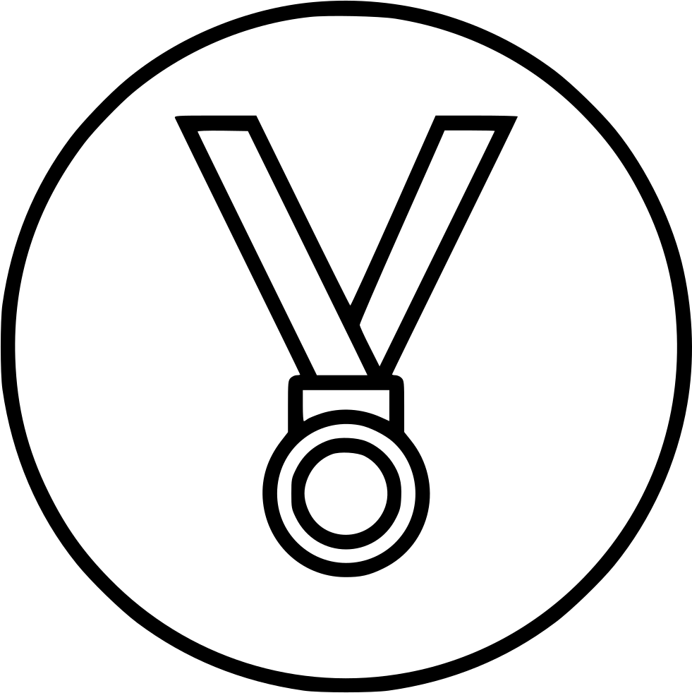 Medal drawing trophy. Award winner bronze third