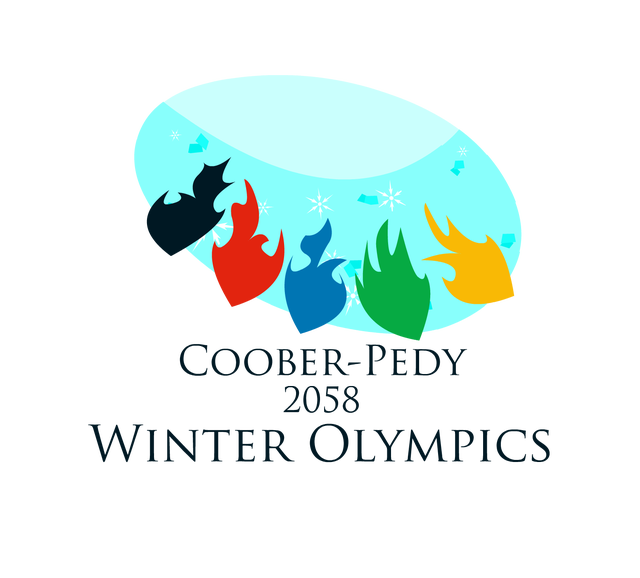 Medal drawing winter olympic. The coober pedy olympics