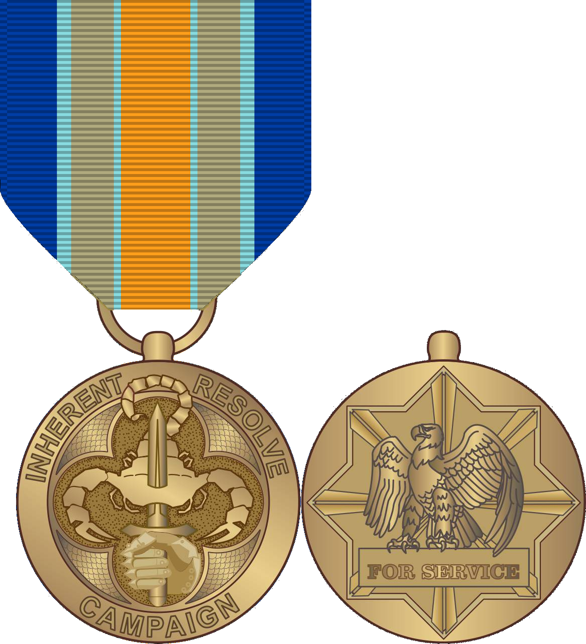 Medals drawing bronze. Inherent resolve campaign medal