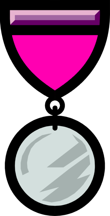 Medallion vector circle. Achievement medal or image