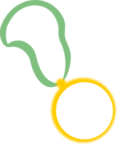 Medallion vector blank. Medal with centre large