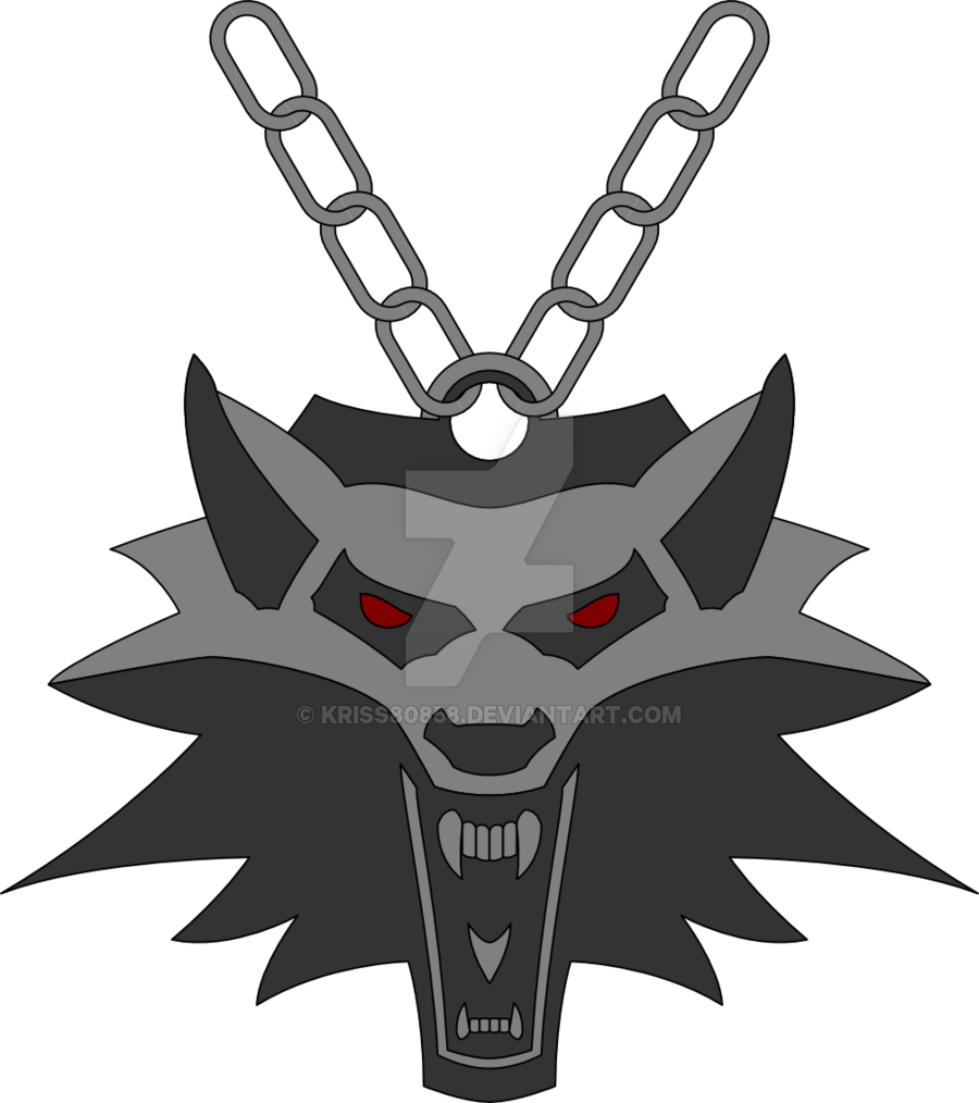 Medallion vector cartoon. The witcher s by