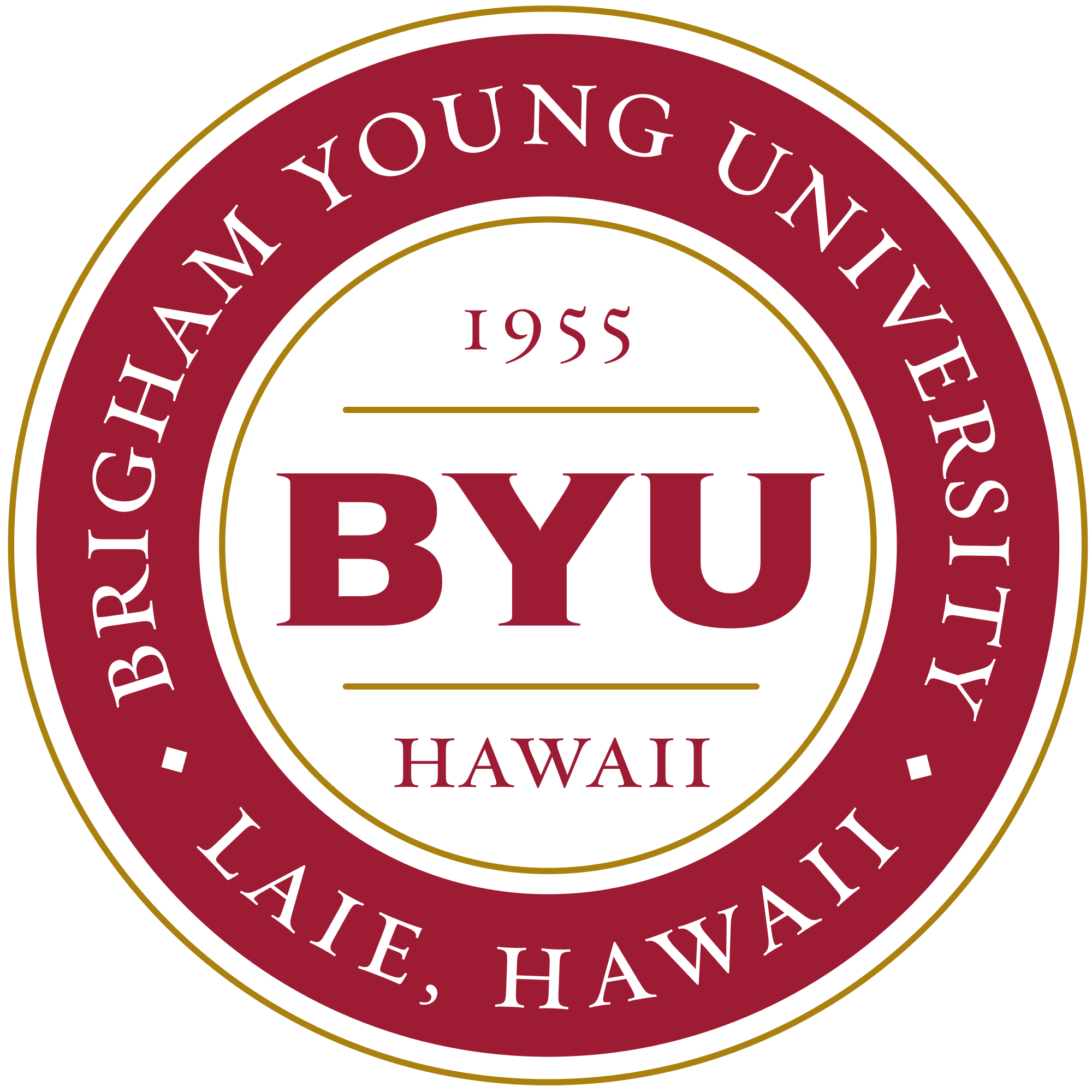 Medallion vector circle. File byu hawaii logo