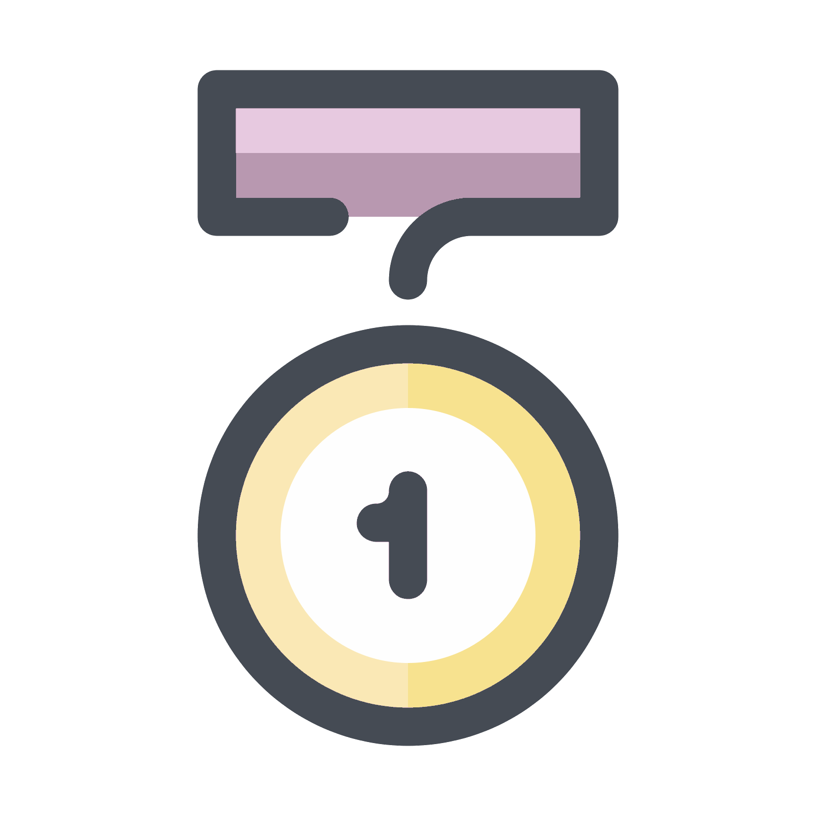 Medallion vector circle. Medal first place icon