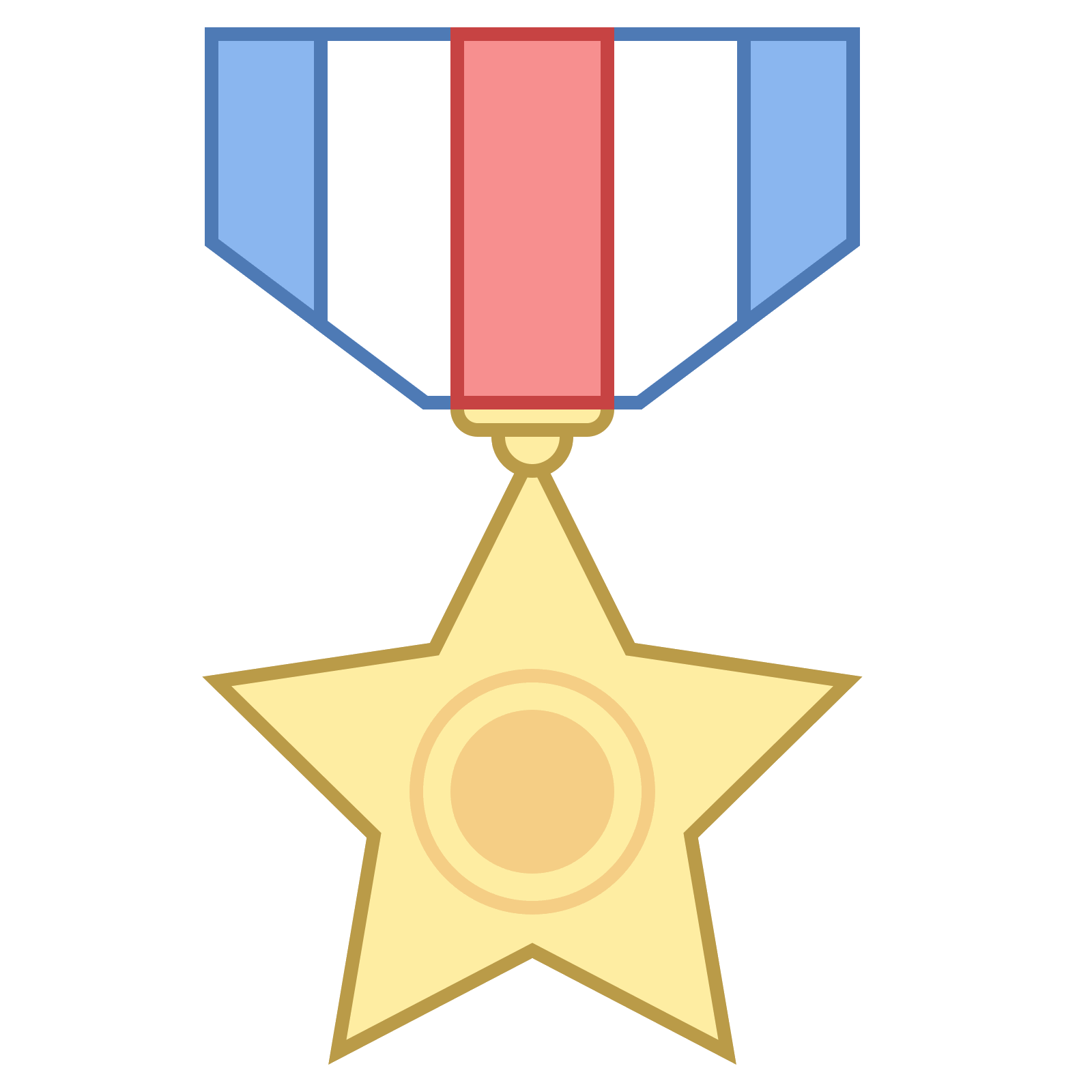 Medallion vector ribbon. Medal icon free download