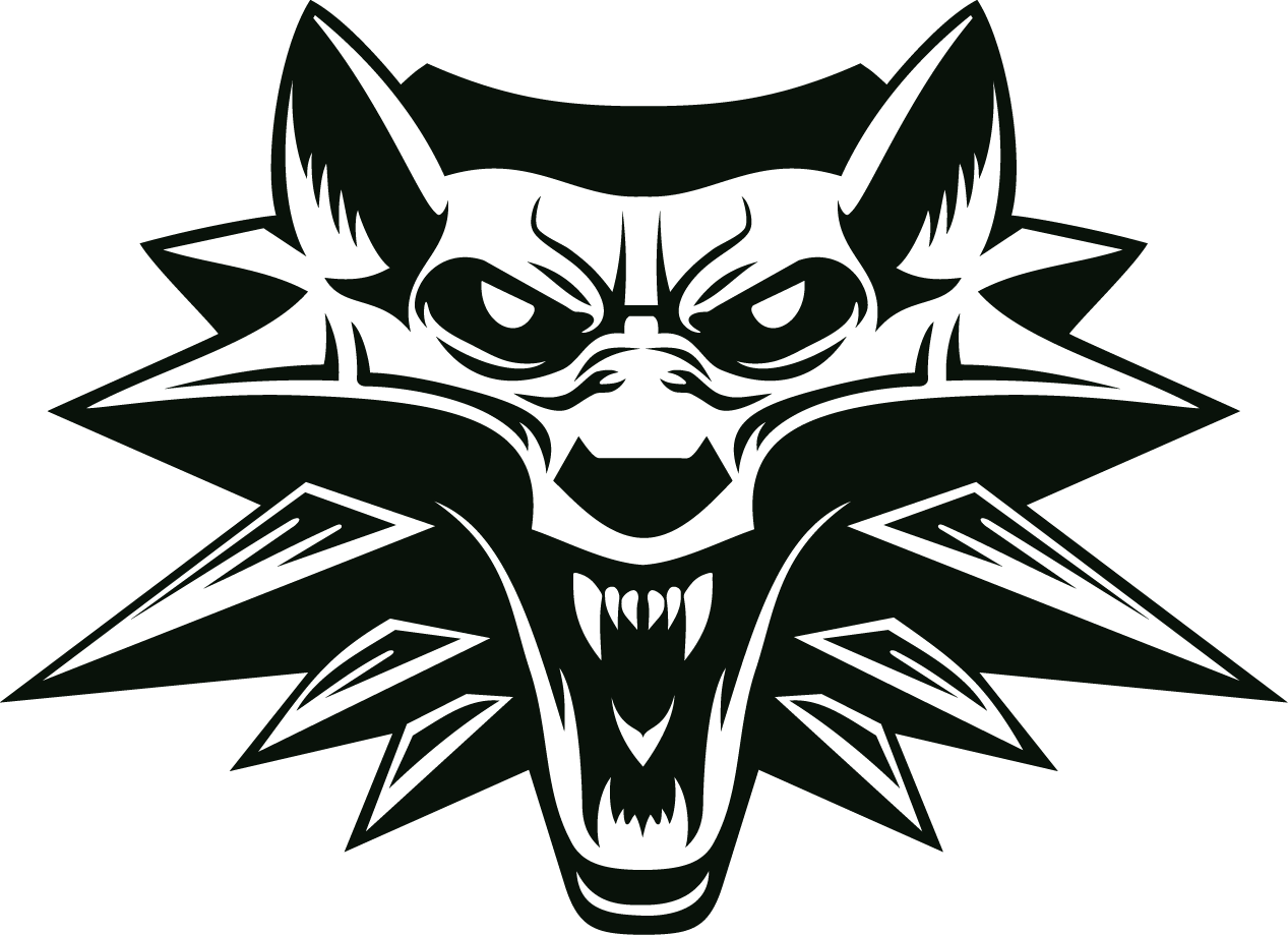 Medallion vector witcher 3 wolf. Png images download