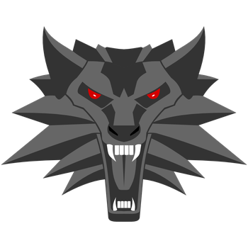 Medallion vector witcher 3 wolf. By adis cz on
