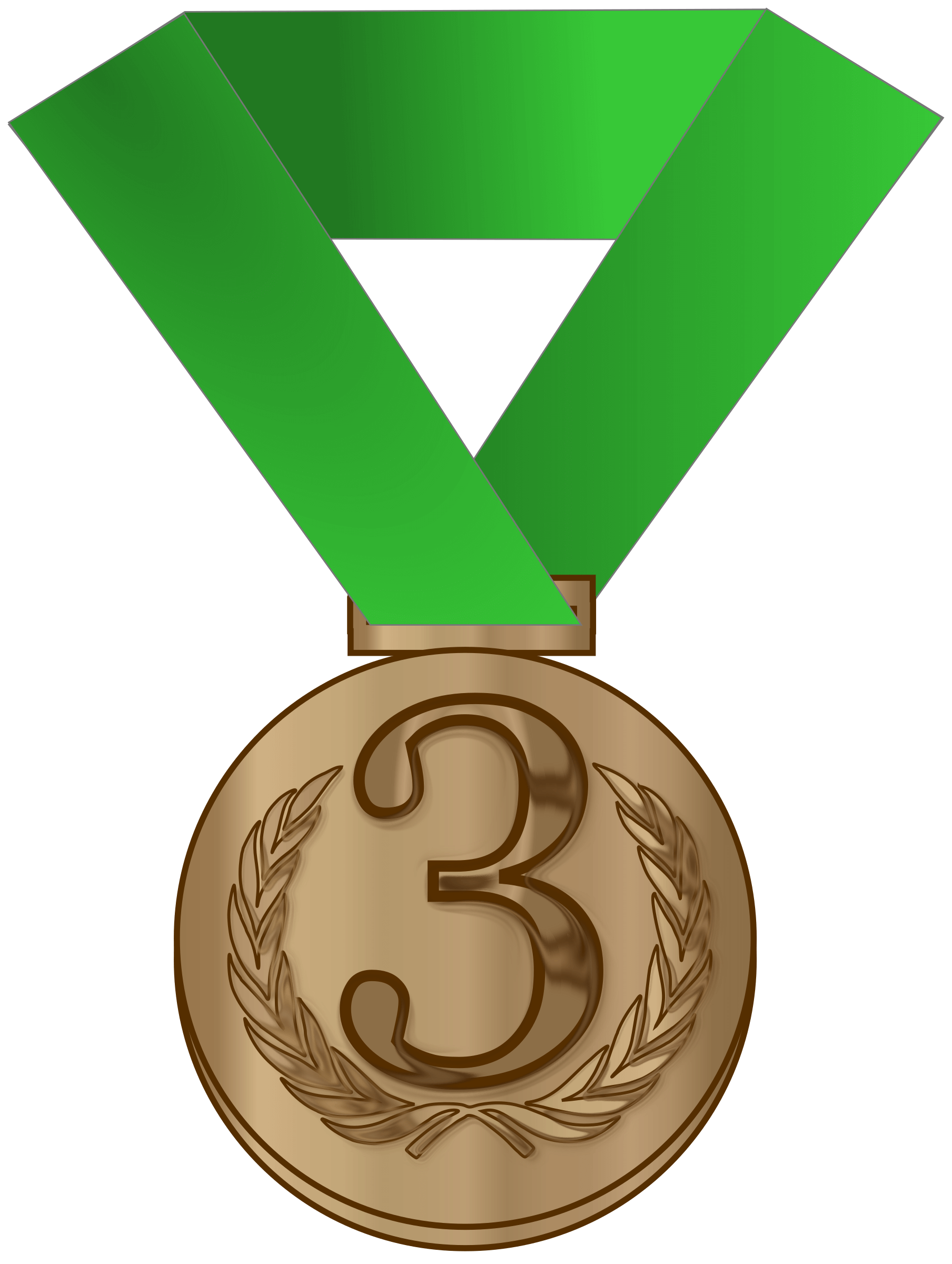 Medals drawing 3rd. Gold medal template free