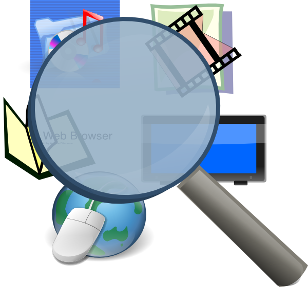 Mass vector media. Detective clip art at
