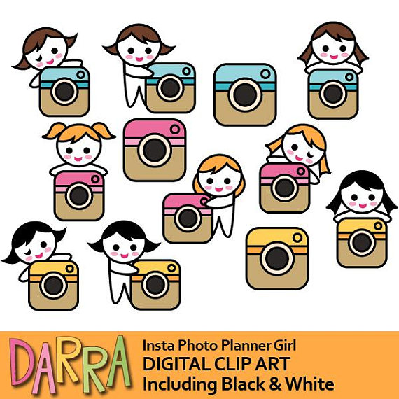 Media clipart media camera. Social girl with photo
