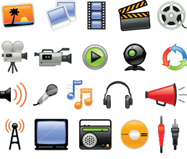 Media clipart modern technology. Multimedia and its components