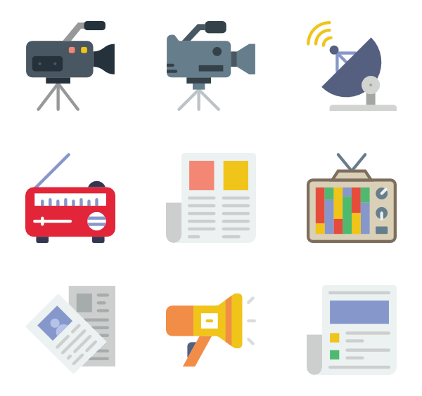 Media clipart news media. Icon packs vector