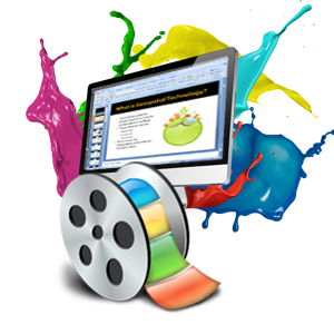 Magic pixel editing development. Video clipart video presentation clip art royalty free library
