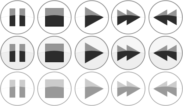 media player buttons png