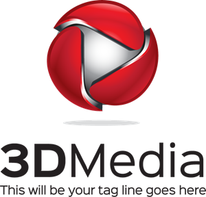 d logo eps. Media vector picture download
