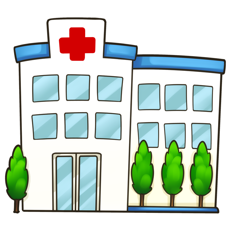 Medical clip clinic. Bulding clipart pencil and