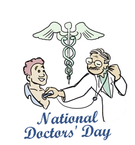 Medical clip doctors day. National clipart
