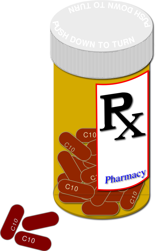 Pharmacist drawing pill bottle. Medical clipart panda free