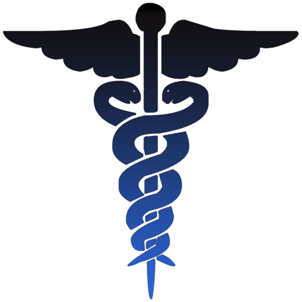 Medical clip physician symbol. Medicine black and